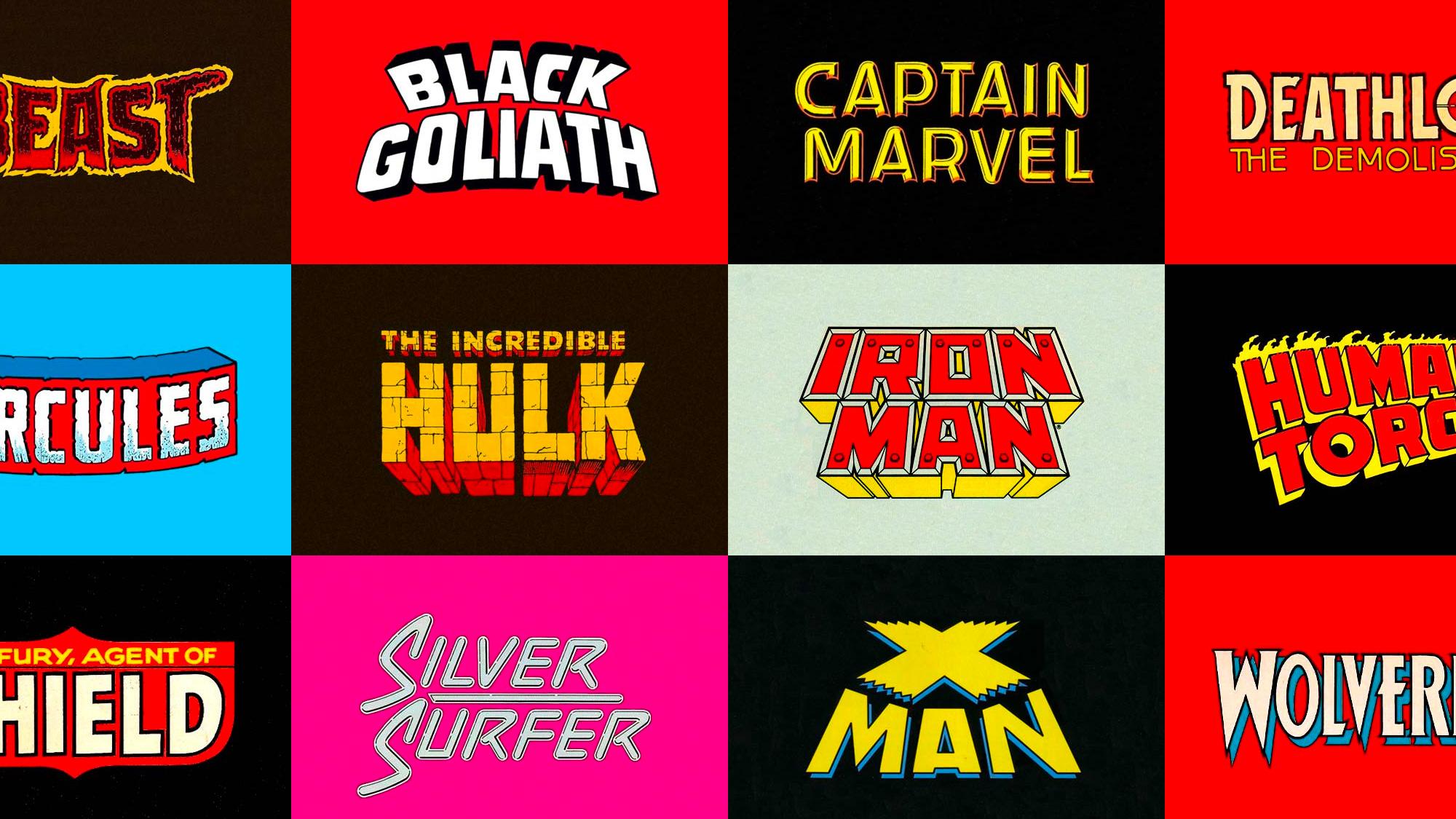 Marvel Superhero Lettering