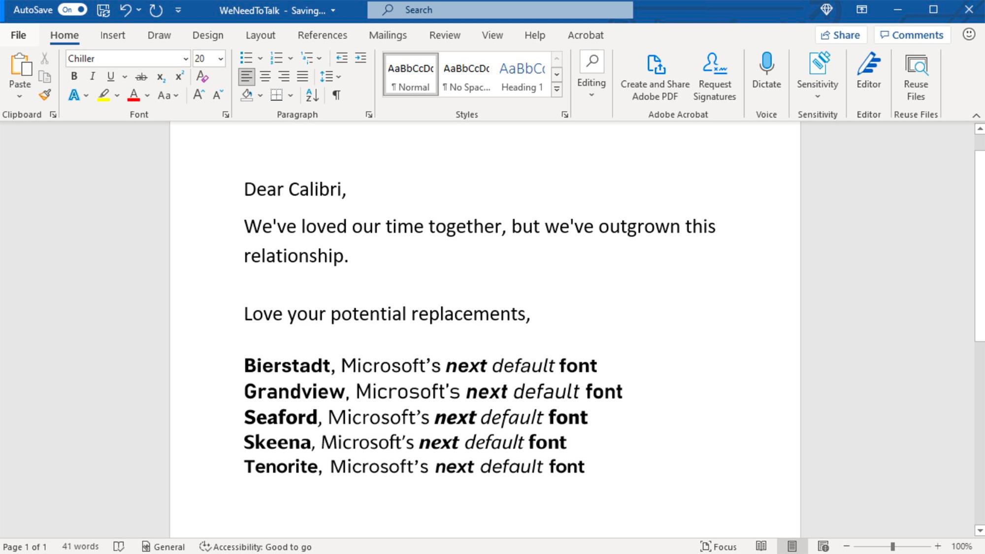 The Next Microsoft Default Font