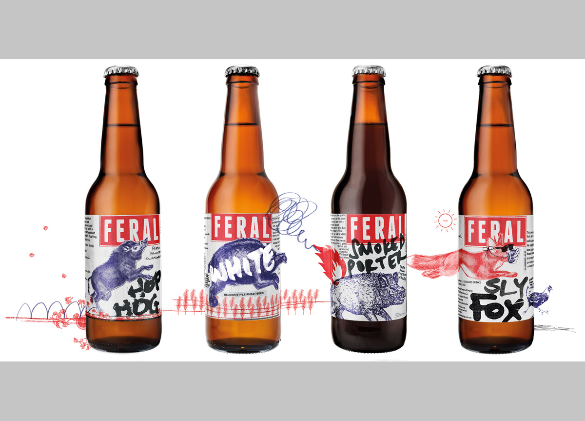 Feral Brewing Company by Block Branding