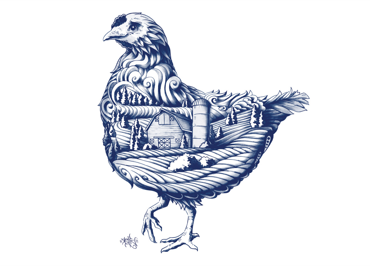 Blue Goose by SidLee