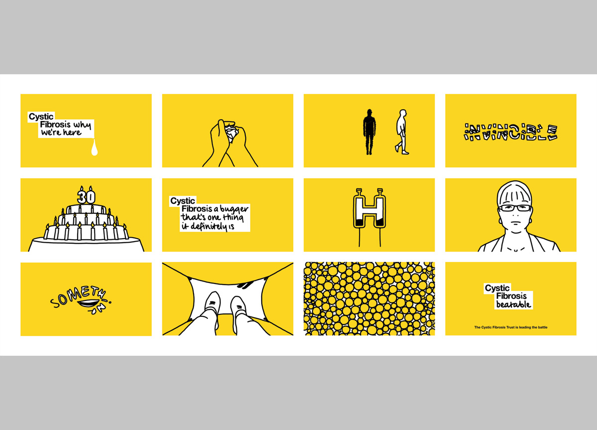 Cystic Fibrosis Trust by johnson banks