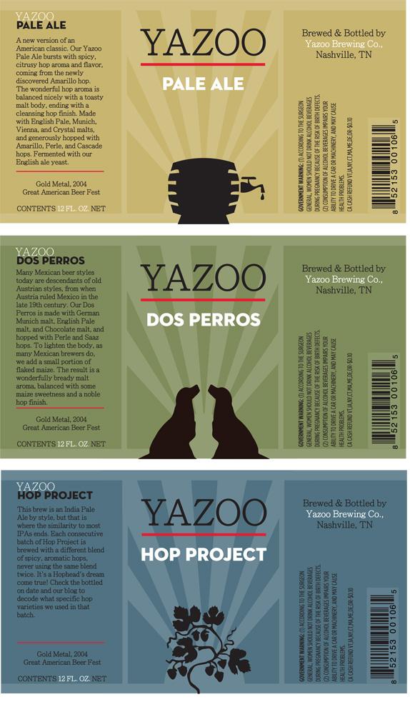 Yazoo Beer Packaging by Holly Taylor