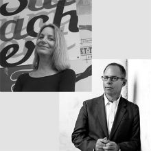 Michael Bierut and Paula Scher