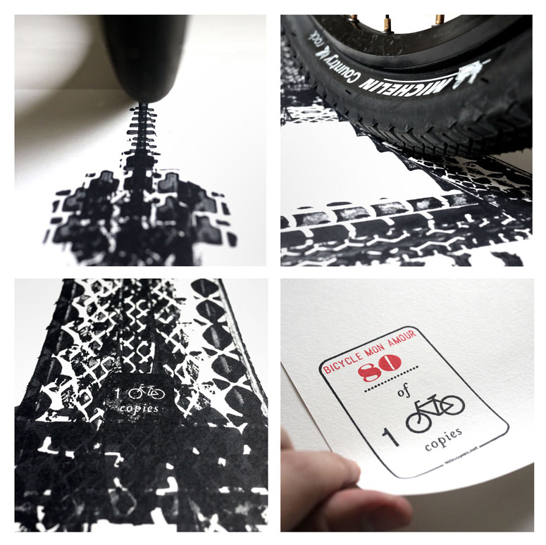 100copies Bicycle Poster - TYRE PRINT SERIES