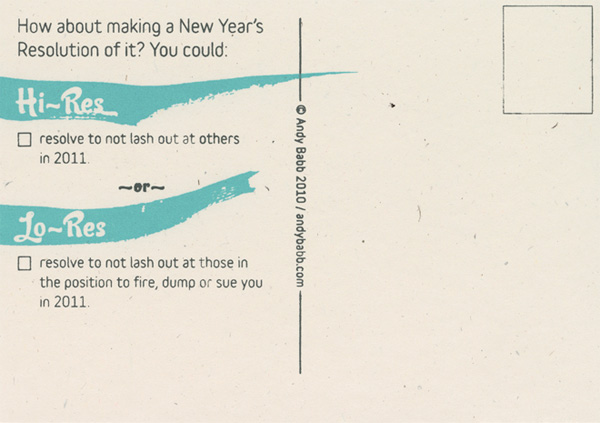 11 Resolutions for 2011 Postcards