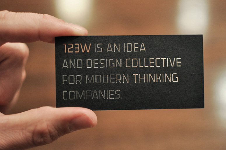 123w Business Cards
