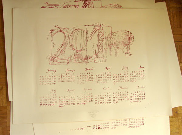 2010 Calendar: An experiment in printing