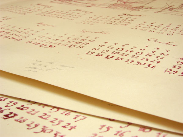 2010 Calendar: An experiment in printing