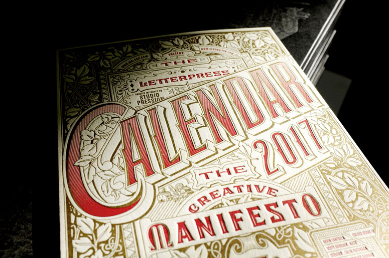 Mr Cup 2017 Letterpress Calendar - The Creative manifesto
