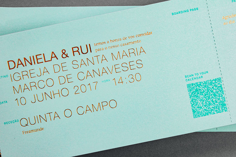Daniela & Rui Wedding Invitation
