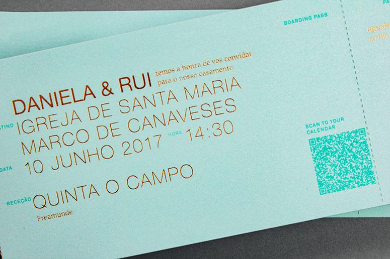Daniela & Rui Wedding Invitation