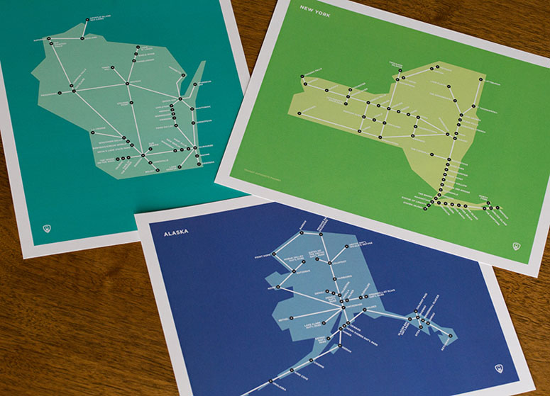United States Schematic Maps