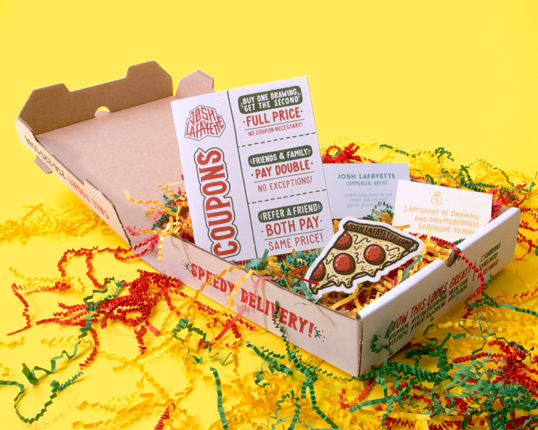 Pizza Box Promo Mailer