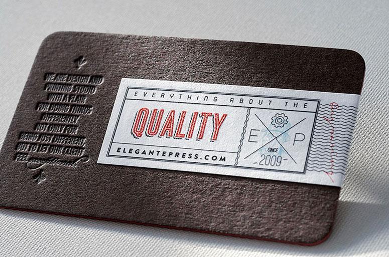Elegante Press Business card