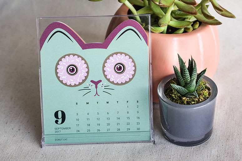 Yozhik&Co 2017 Cat Calendar