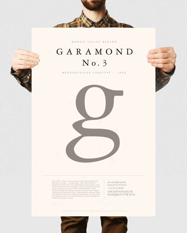 The Type Gallery series of typographic posters