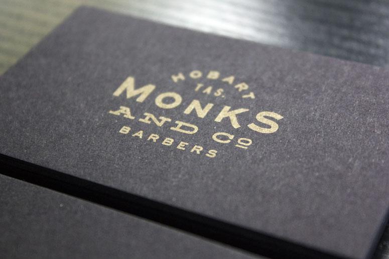 Monks & Co. Tasmanian Barbershop Business Cards
