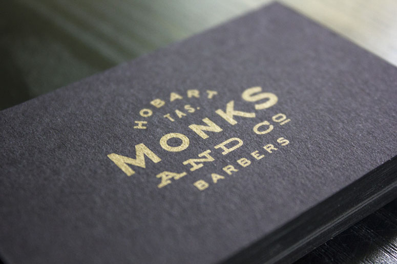 Monks & Co. Tasmanian Barbershop Business Cards