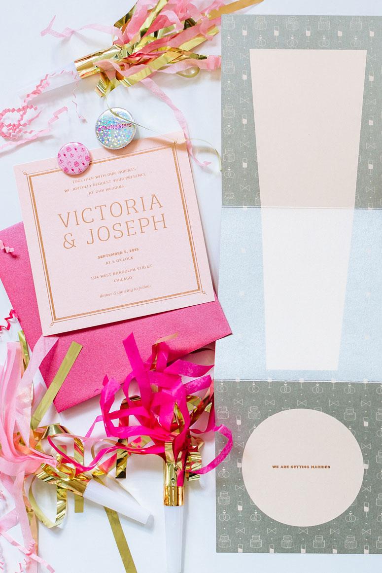 FPO: Victoria & Joseph Wedding Invitation
