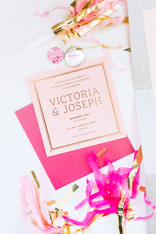 Victoria & Joseph Wedding Invitation