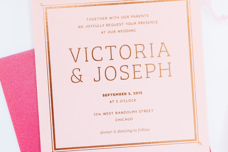 Victoria & Joseph Wedding Invitation