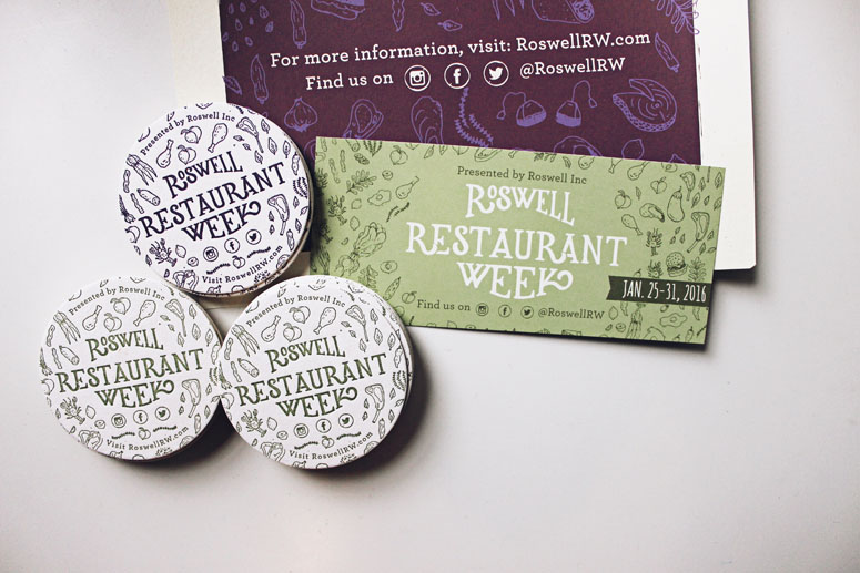 Roswell Restaurant Week Deliverables
