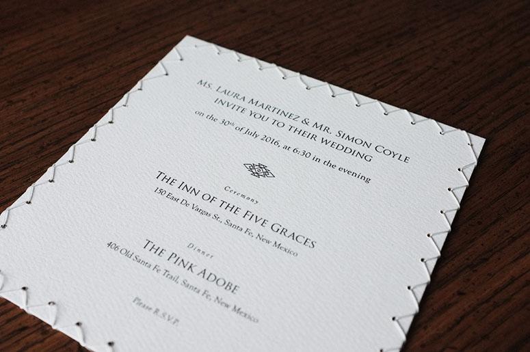 Laura & Simon Wedding Invitation