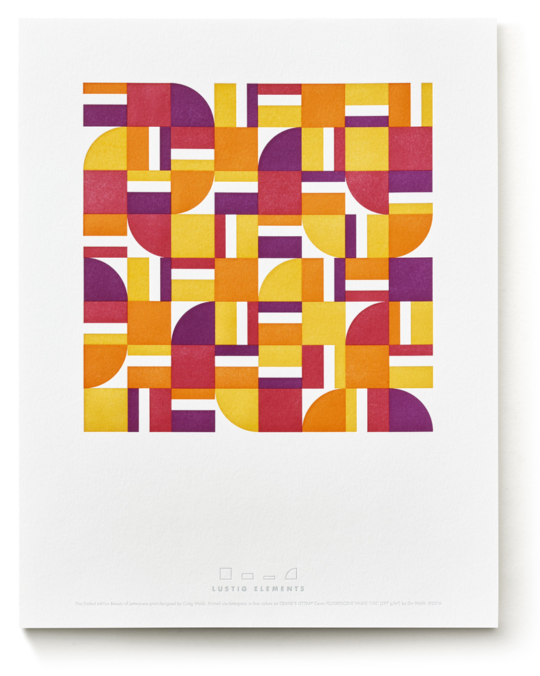 Lustig Elements Collection, The Beauty of Letterpress