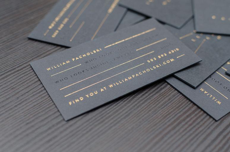 William Pacholski Business Cards
