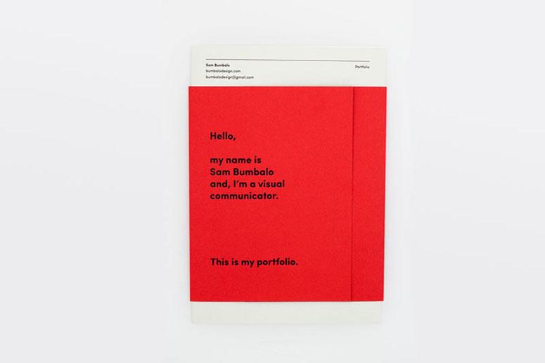 Sam Bumbalo Portfolio Mailer