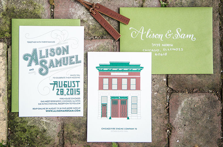Alison & Sam Wedding Invitation