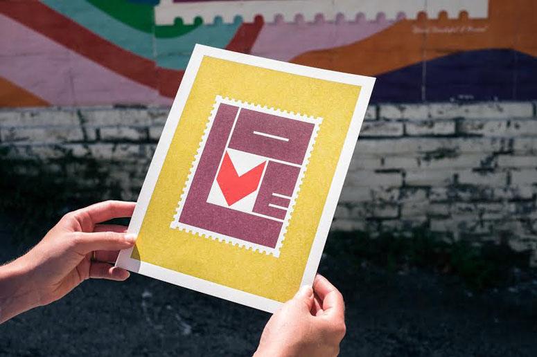 LOVE Stamp Print