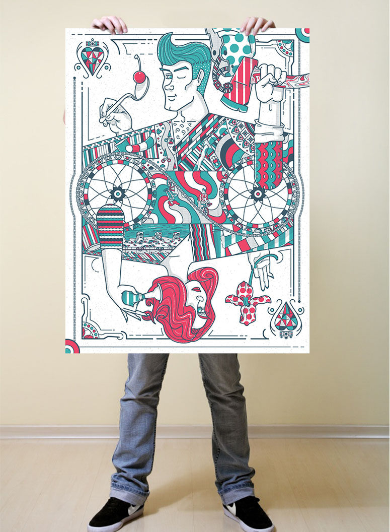 Jack and Jill of Hearts Poster