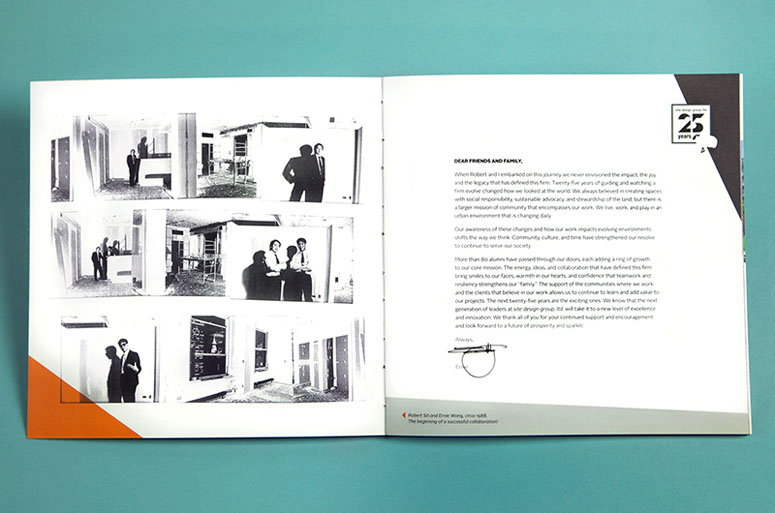 Site Design Group, Ltd. Slip Case, Book and Mini Book Insert