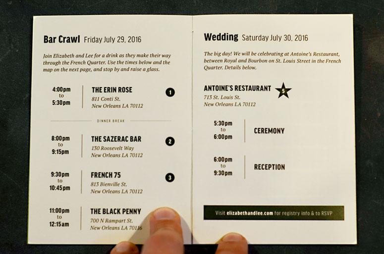 Elizabeth and Lee Wedding Invitation
