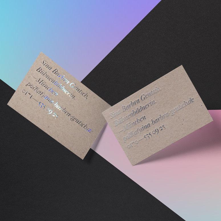 Sina Gentsch Business Card
