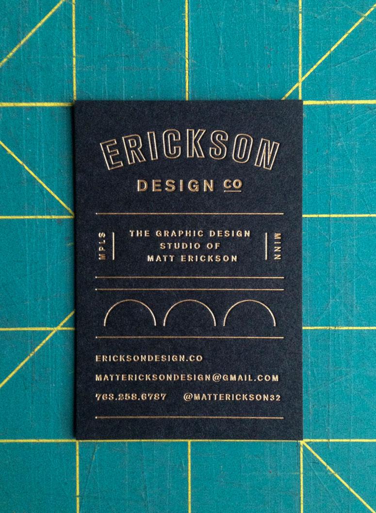 Erickson Design Co. Business Cards