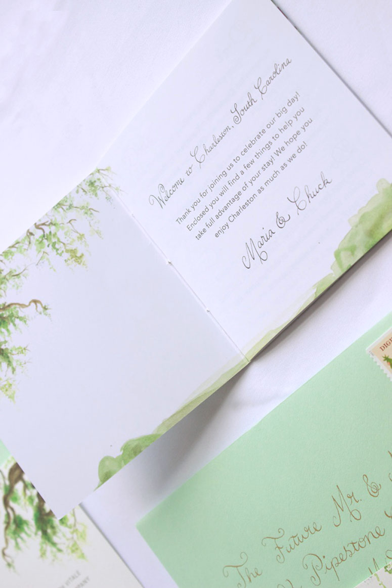 Mattingly & Vitale Wedding Invitation