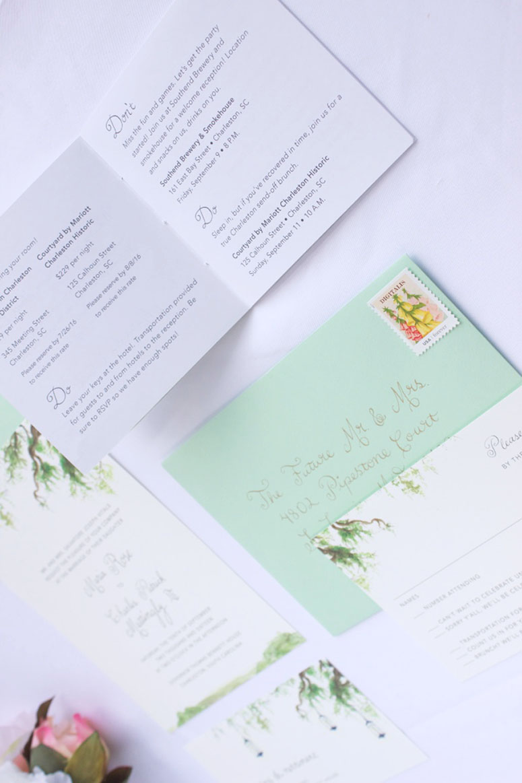 Mattingly & Vitale Wedding Invitation