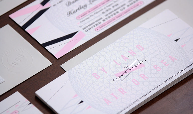 Dana & Hartley Wedding Invitation