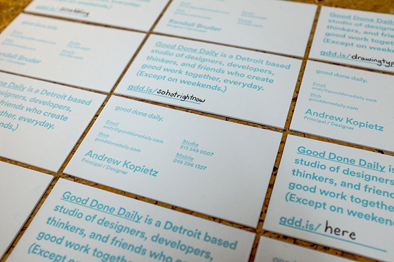 Good Done Daily Business Cards