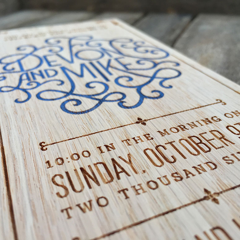 Devon & Mike Wedding Invitation