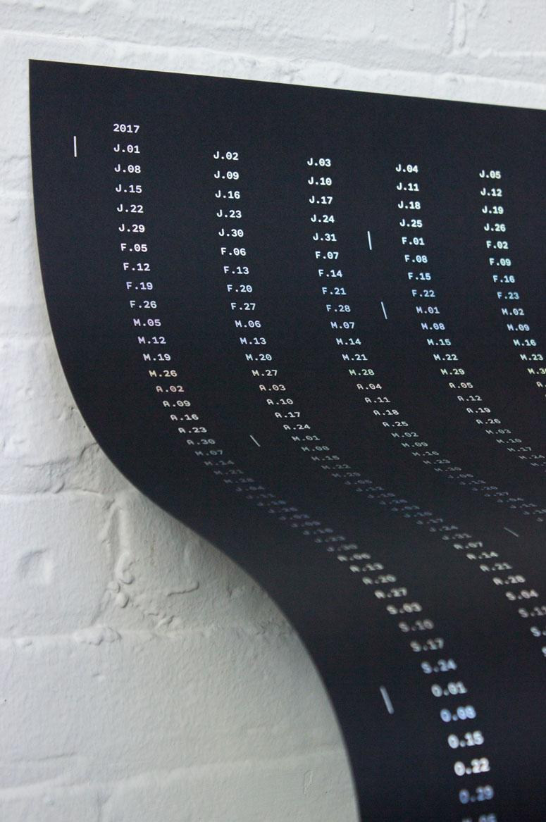2017 Minimal Wall Calendar