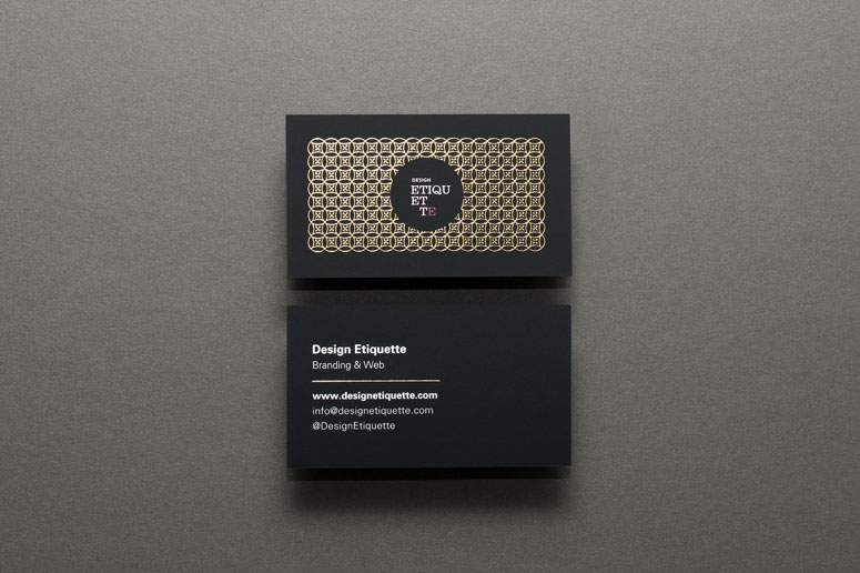Design Etiquette Business Cards