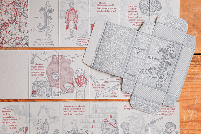 Mister F letterpress mini-book