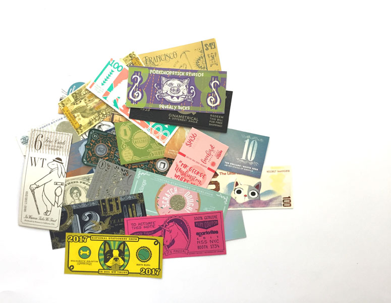 All National Stationery Show Attendees Dollar Bills with wallet packaging