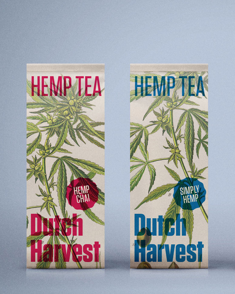 Dutch Harvest Hemp Tea Packaging