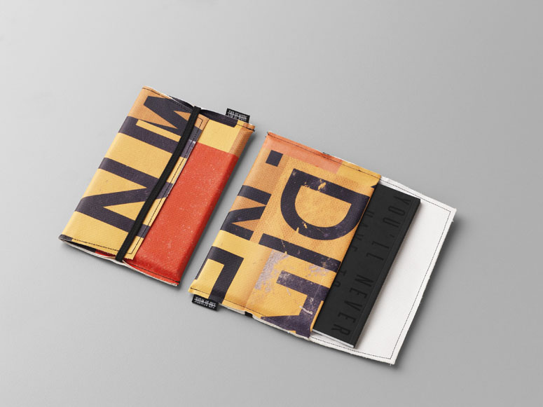 End of Work iPad and notebook cases