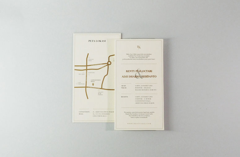 Renty and Adji Wedding Invitation