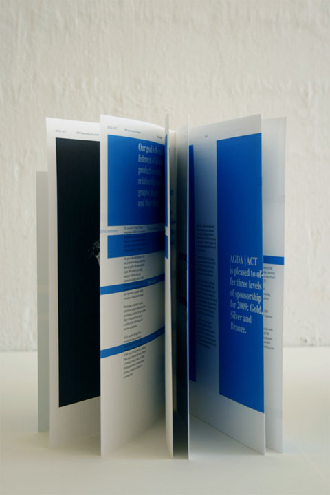 Australian Graphic Design Association Sponsorship Brochure